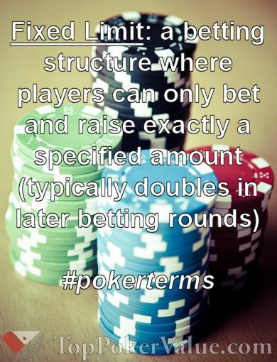 fixed limit poker sites