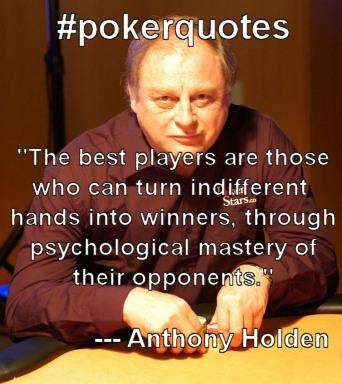 poker cash game quote anthony holden
