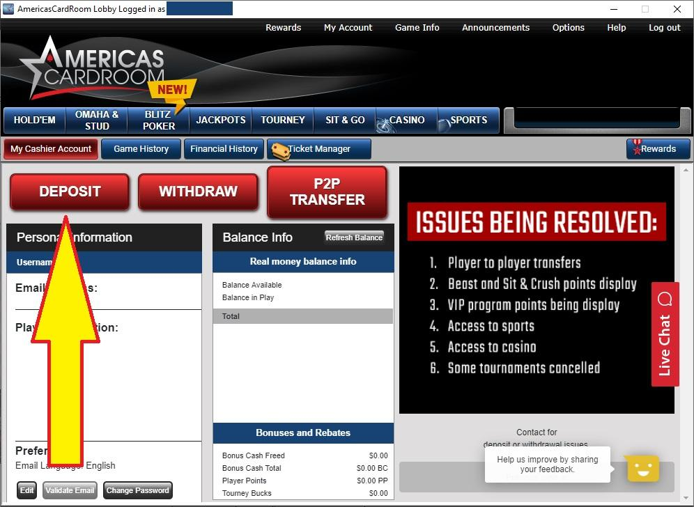 america cardroom download