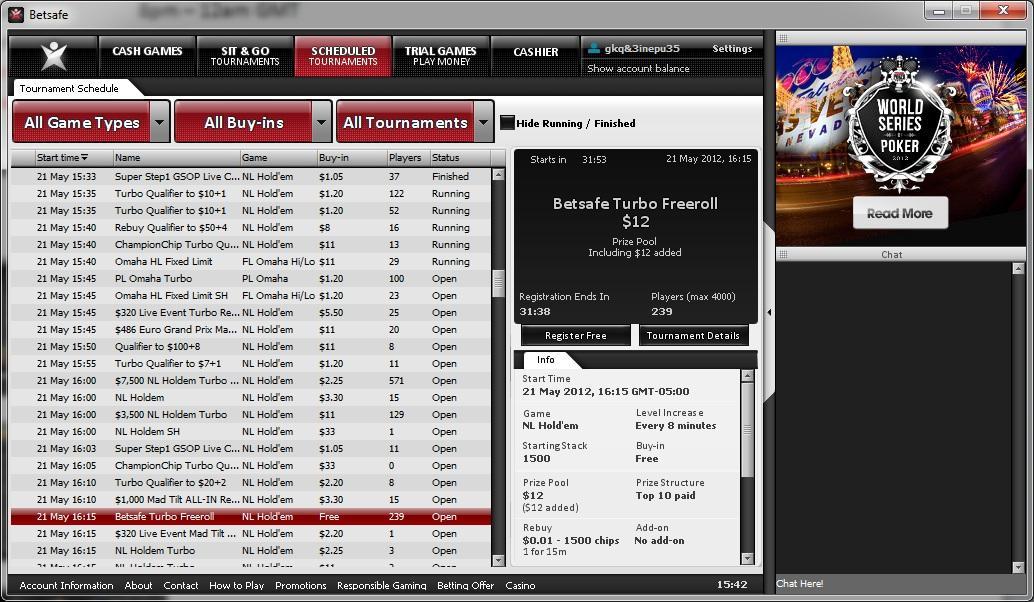 Betsafe Poker Red