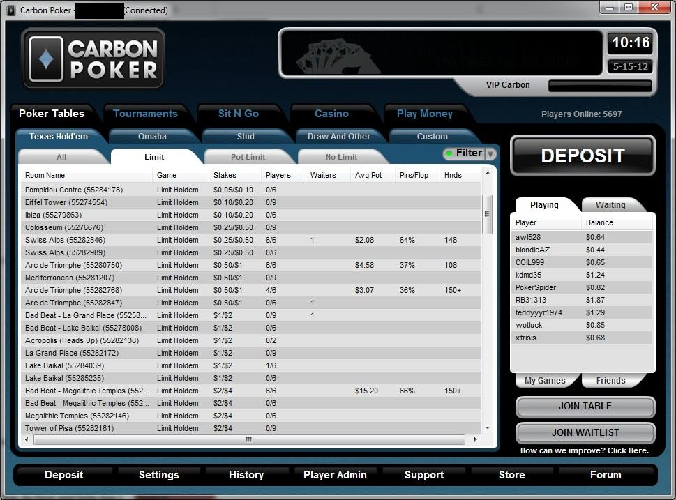 Online poker sites allowing us players