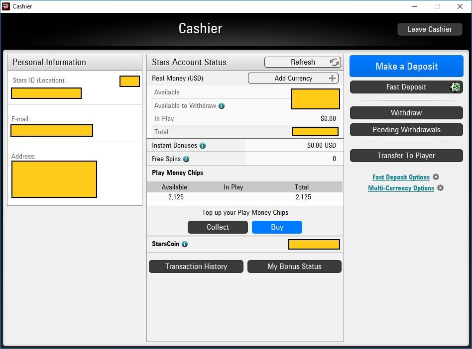 Full tilt poker opens for play-money, players can view balances.